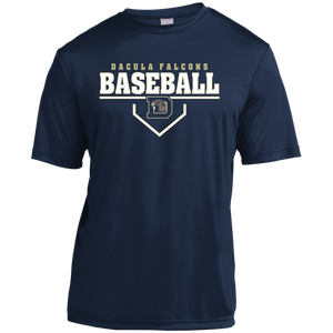 Dacula Falcons Plate Logo Youth Moisture-Wicking T-Shirt