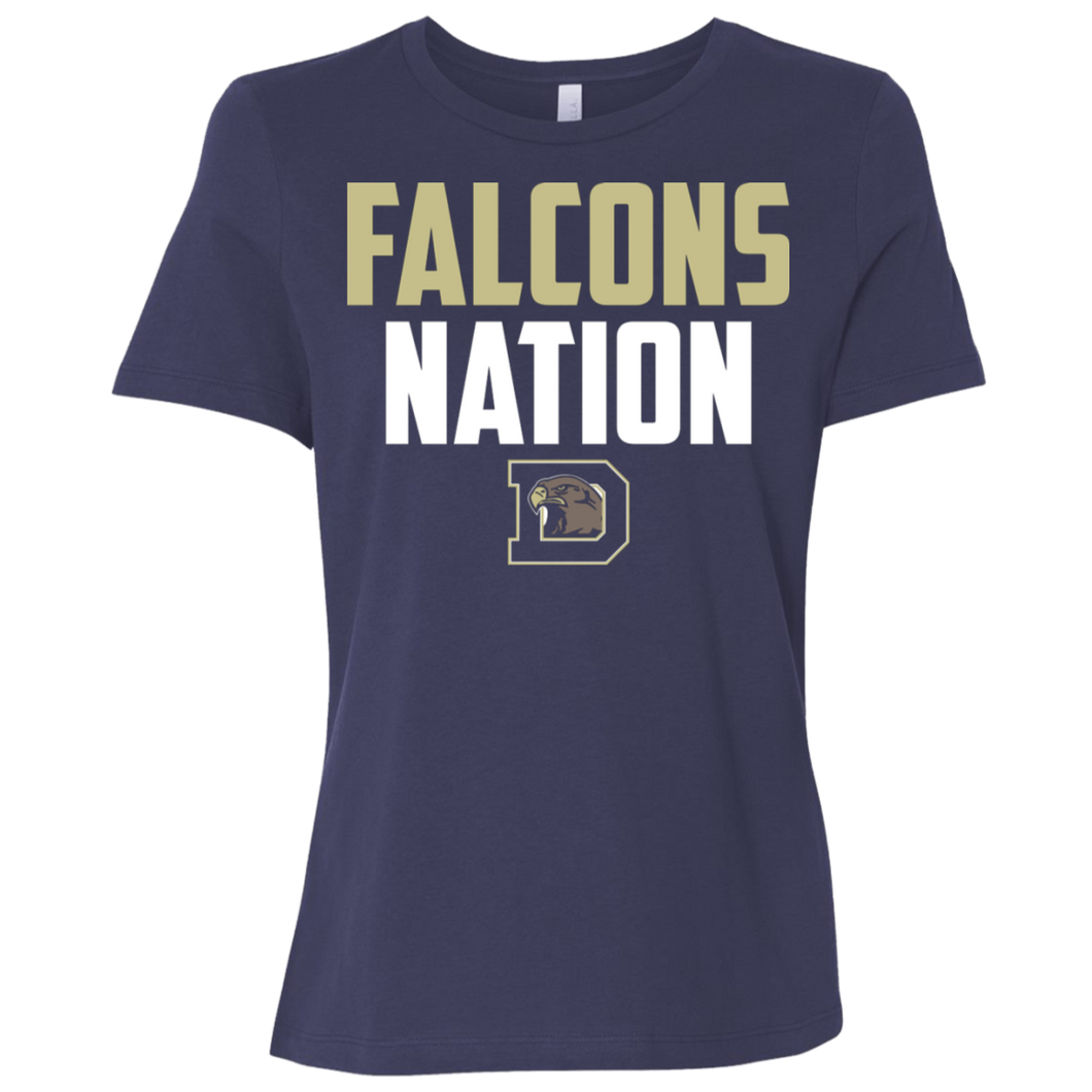 Falcons Nation Ladies' Relaxed Jersey Short-Sleeve T-Shirt