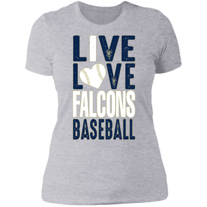 Live/Love Falcons Ladies' Boyfriend T-Shirt