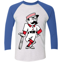 Load image into Gallery viewer, Slugger T Tri-Blend 3/4 Sleeve Baseball Raglan T-Shirt