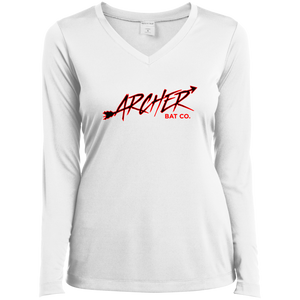 Archer Bat Co Ladies' LS Performance V-Neck T-Shirt