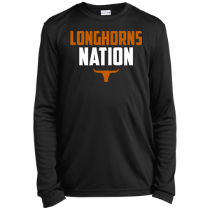 Longhorns Nation Youth Long Sleeve Moisture-Wicking T-Shirt