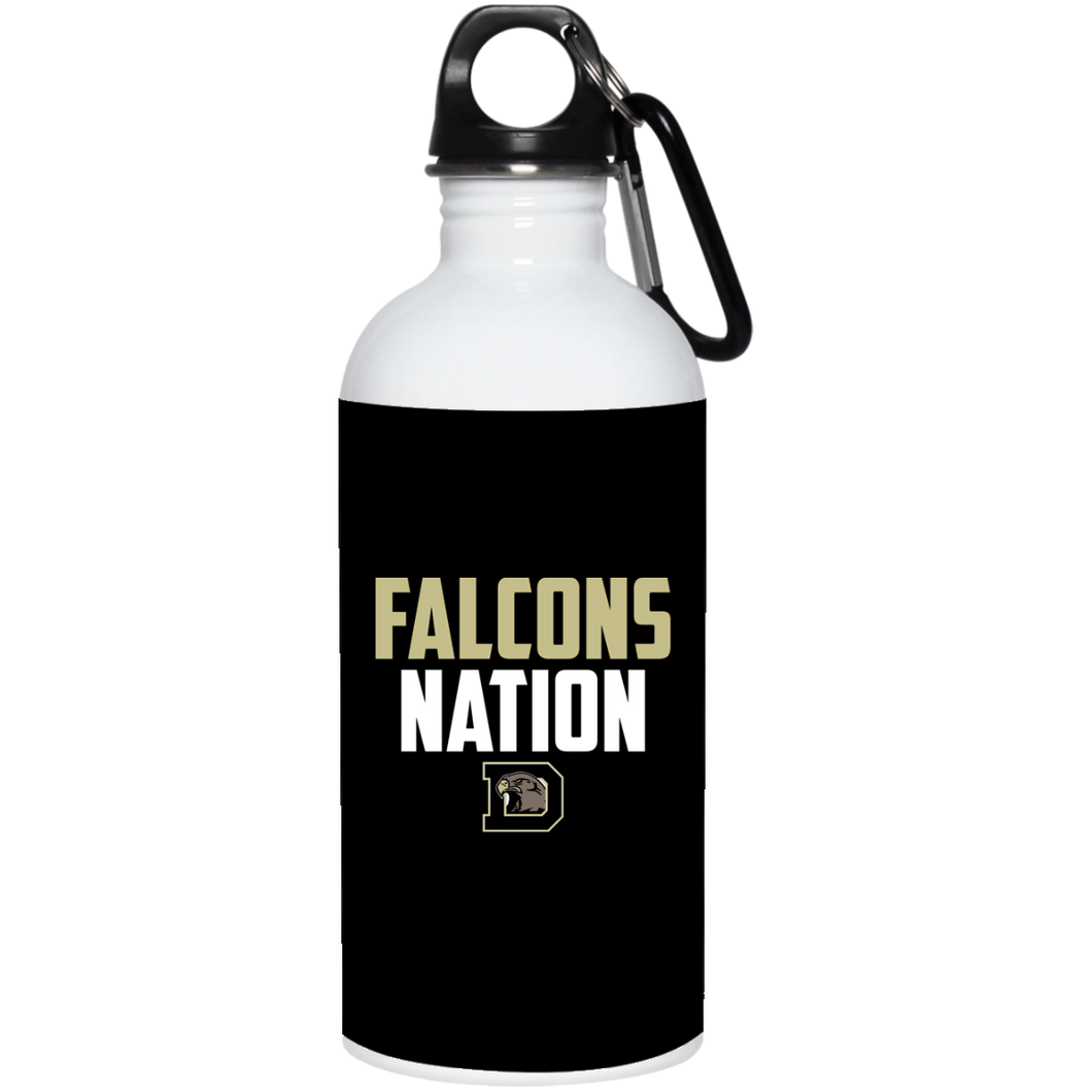 Falcons Nation 20 oz. Stainless Steel Water Bottle