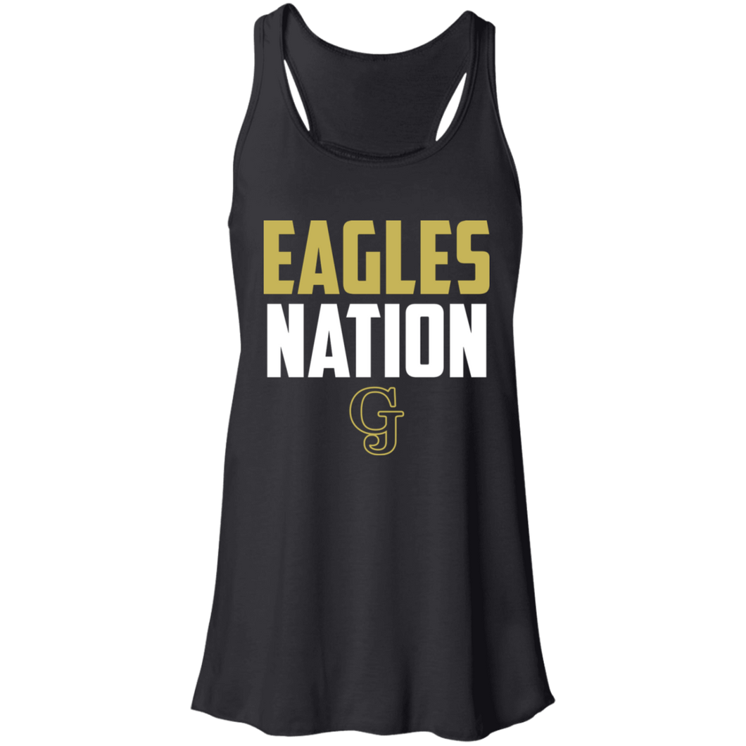 Eagles Nation Flowy Racerback Tank
