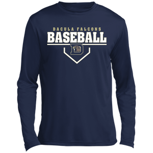 Dacula Falcons Plate Logo Long sleeve Moisture Absorbing T-Shirt