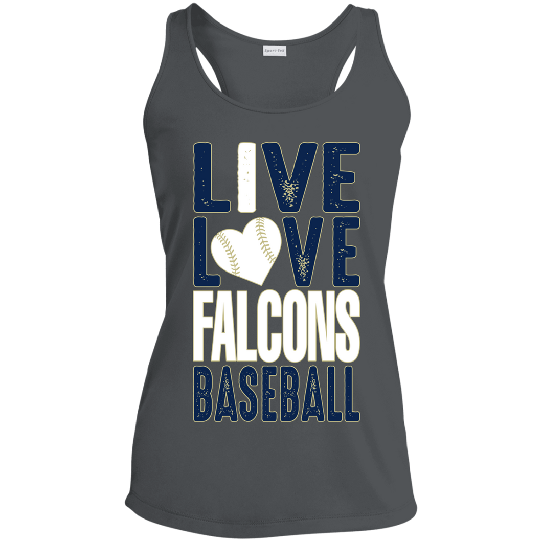 Live/Love Falcons Ladies' Racerback Moisture Wicking Tank