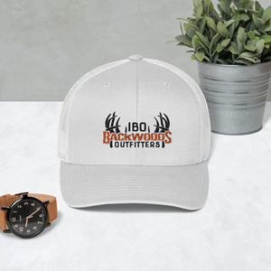 IBO Swah Youpong 6606 Black/Orange/White 3D Puff Trucker Cap