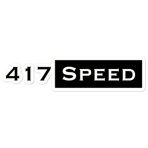 417 Speed Bubble-free stickers