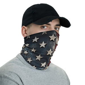 White Barnwood Sports Design Neck Gaiter