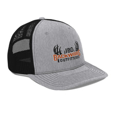 Load image into Gallery viewer, Richardson 112 IBO Swag Pack Black/Orange/White 3D Trucker Cap