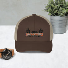 Load image into Gallery viewer, IBO Swah Youpong 6606 Black/Orange/White 3D Puff Trucker Cap