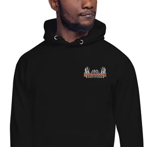 Embroidered IBO Orange/White/Grey Hoodie