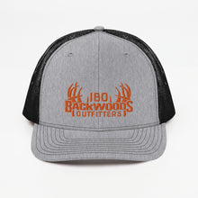 Load image into Gallery viewer, Richardson 112 Swag Pack Cap Orange Logo Trucker Cap