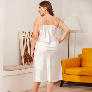Silk Solid Dress Sleepwear