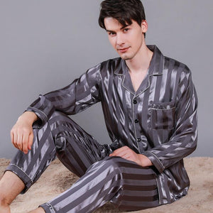 man stripe pajamas home suits