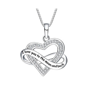 S925 sterling silver personalized love ribbon design necklace