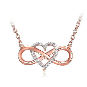 S925 Sterling Silver Creative Link Love Necklace