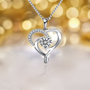S925 sterling silver fashion and creative love necklace