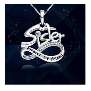 S925 sterling silver creative personality lettering SISTER necklace