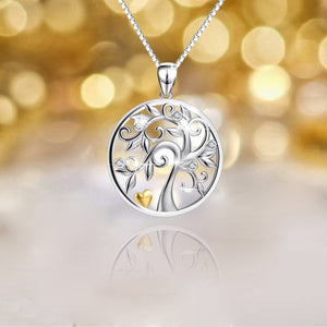 S925 Sterling Silver Creative 'Tree of Life' pendant necklace