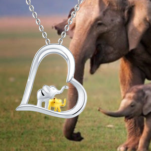 S925 sterling silver female elephant design necklace
