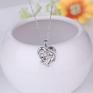 S925 sterling silver personality necklace designed for mom