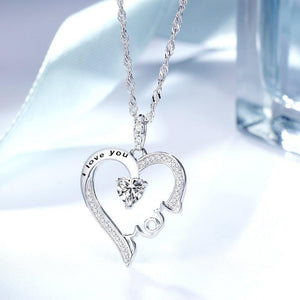 S925 sterling silver creative 'I Love You Mom 'necklace
