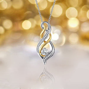 S925 sterling silver gold flame design pendant necklace