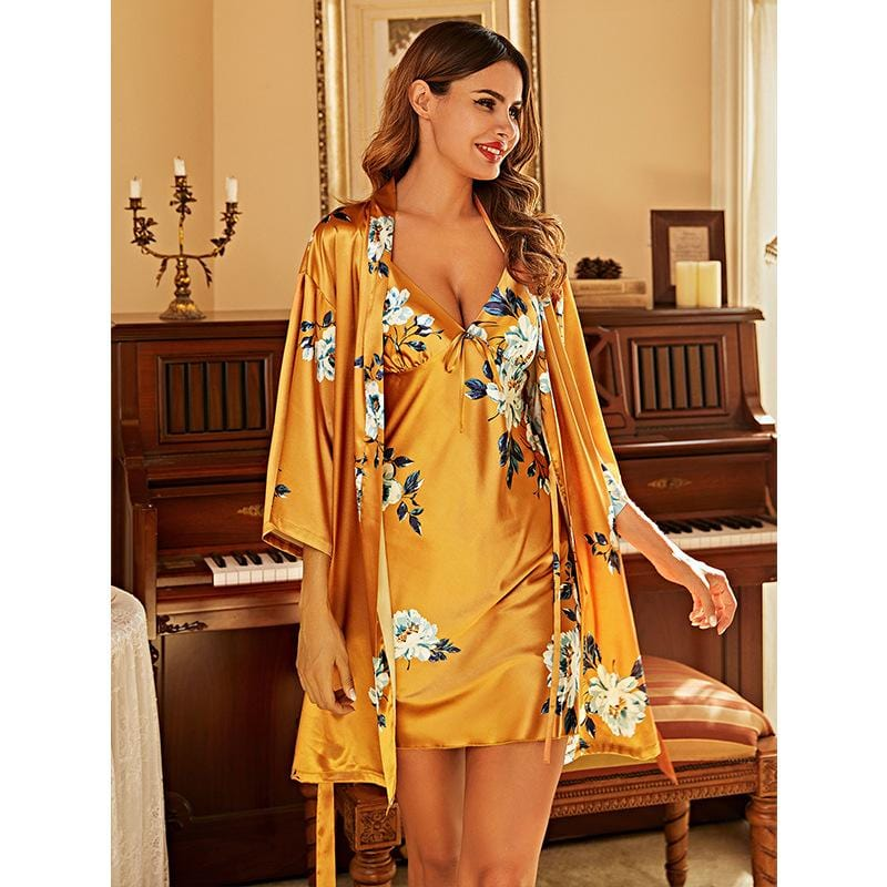 Silk sling suit women's pajamas