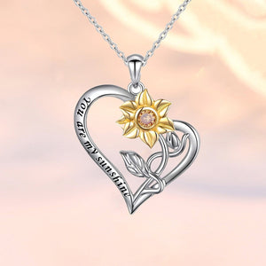 S925 sterling silver sunflower design necklace