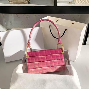 2021 exquisite and unique gradient pink design female bag