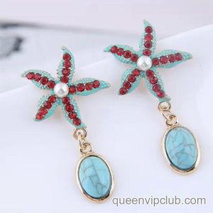 Starfish design earrings