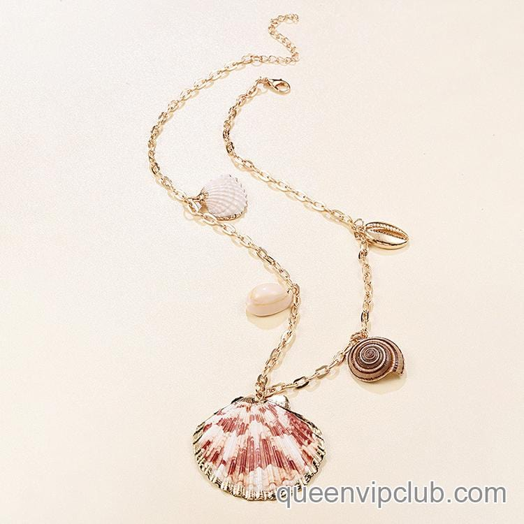 shell Metal Chain Necklace本