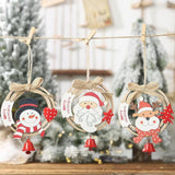 Christmas Decorations - Bow Bells Wooden Plate Pendant