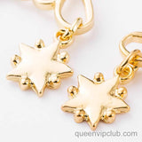 Moon Star Hollow Design Earrings