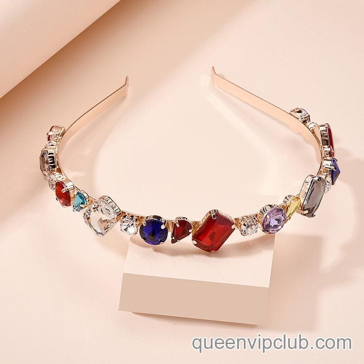 Temperament rhinestone design headdress