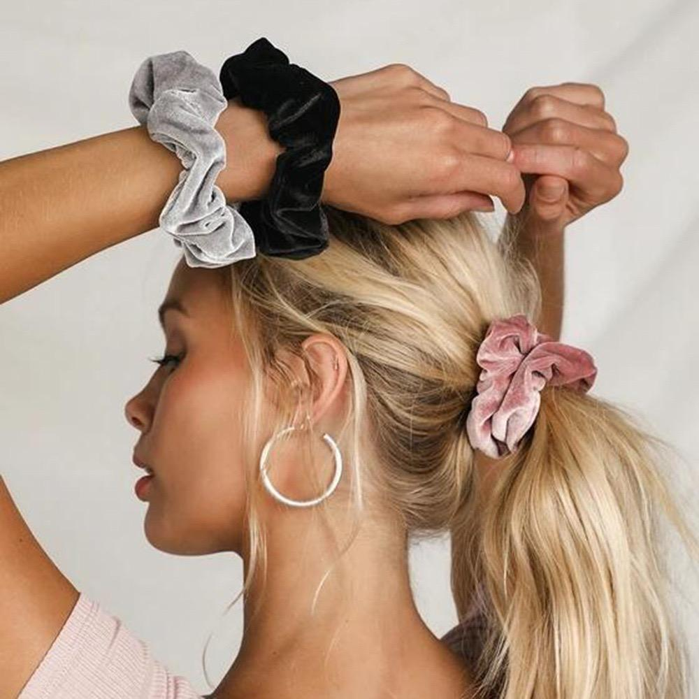 6pcs Solid Scrunchie