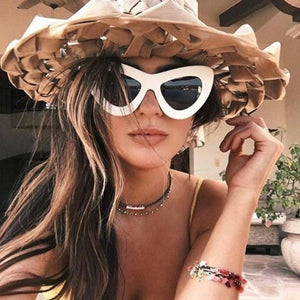 New big frame butterfly shape colorful sunglasses