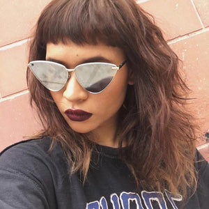 Trendy retro cat eye sunglasses