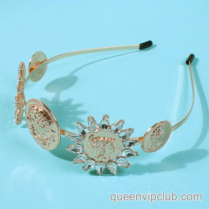 Rhinestone Flower Design Headdress