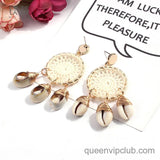 Shell Design Dream Catcher Drop Earrings