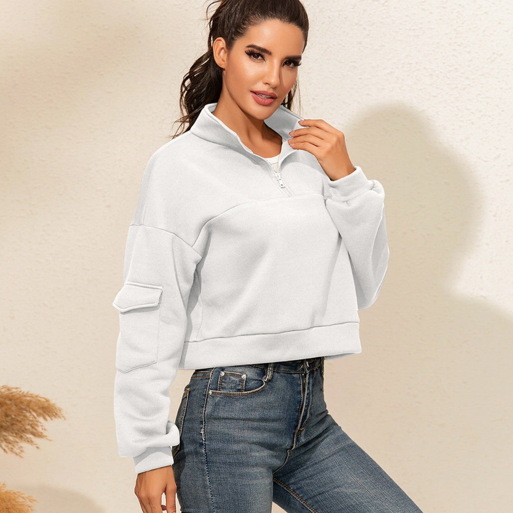 All-match pullover crop top