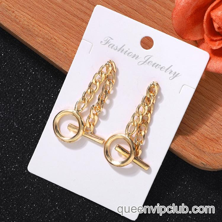 Chain Cuff Earrings