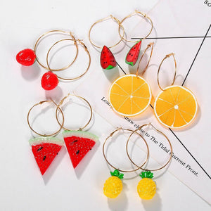 Fruit design earrings