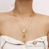 Shell Metal Chain Necklace