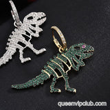 Rhinestone Dinosaur Decorative Drop Earrings