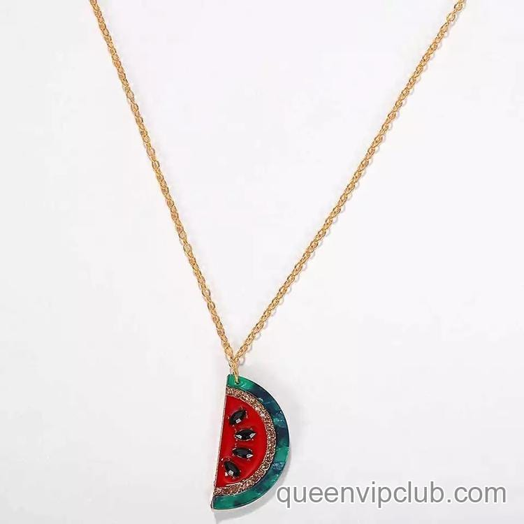 Fruit design necklace
