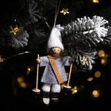 Christmas Decorations - Ski Doll Pendant