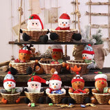 Christmas Decorations - Size Christmas Fruit and Candy Basket