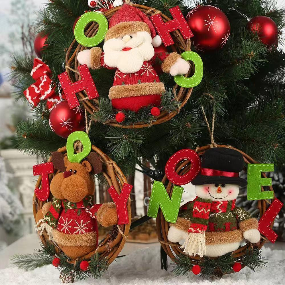 Christmas Decorations - Cartoon Rattan Stereo Company Garland Ornaments
